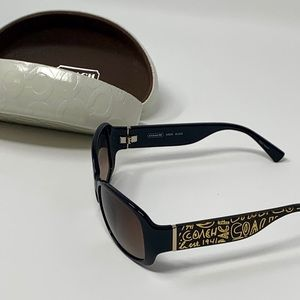 Coach S3005 Black and Gold Sunglasses. Never Worn